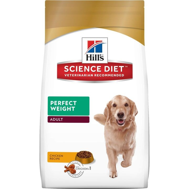 Science Diet Adult Perfect Weight Chicken Recipe Dry Dog Food, 15 lb bag