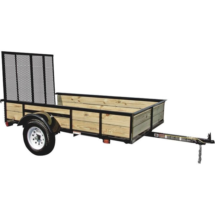 5x 8 Wood Sided Utility Trailer