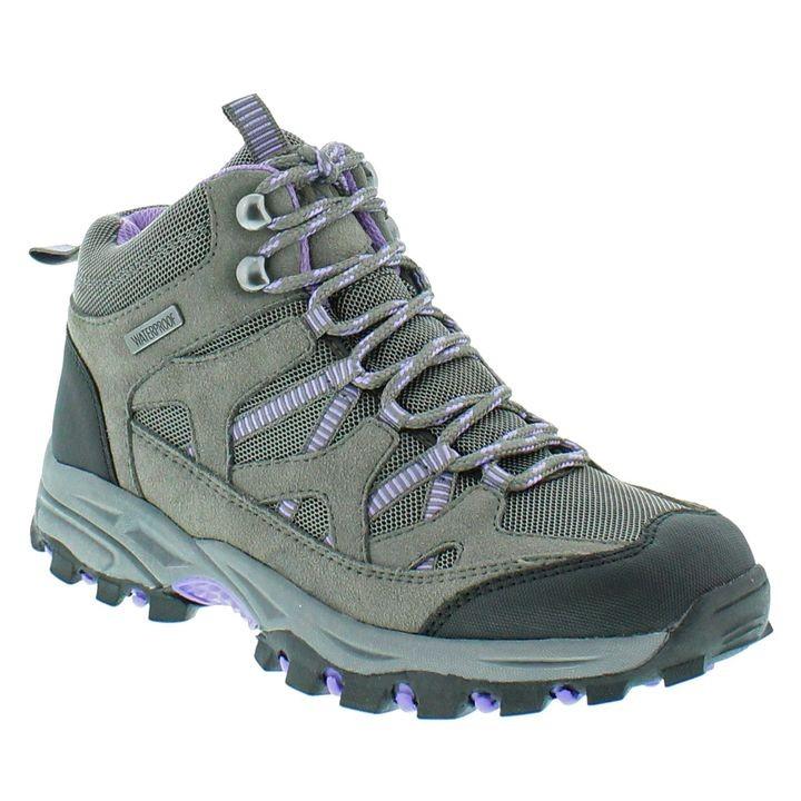 Ladies' Gray \u0026 Purple Hiking Boots