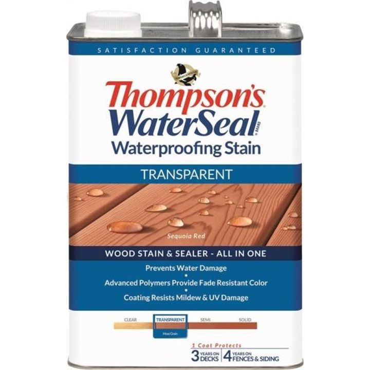 1 Gallon Thompsons Sequoia Red Transparent Waterproofing Stain