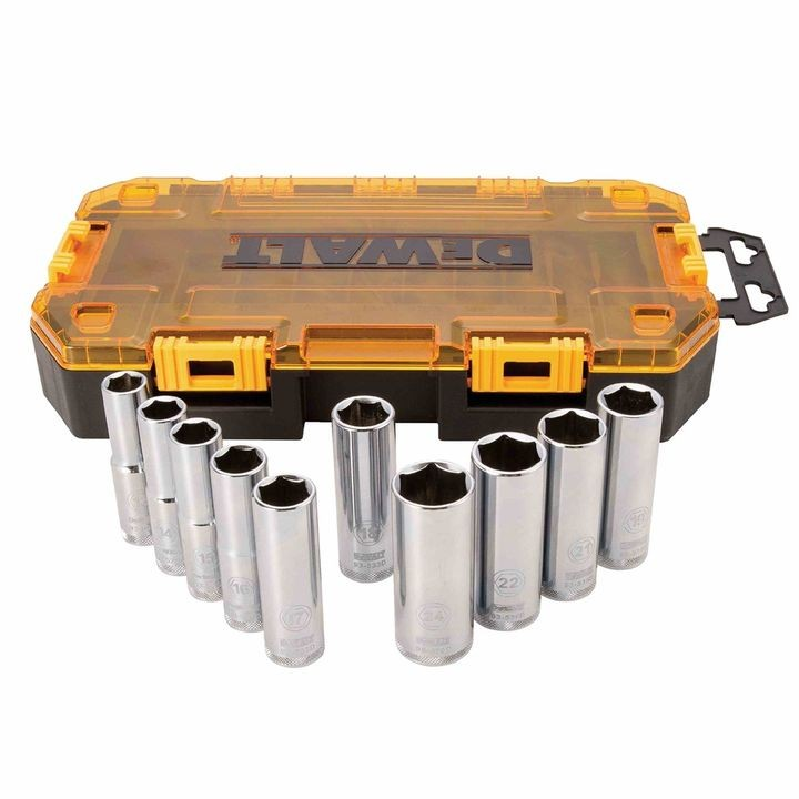 "10 Piece 1/2"" Drive Deep Socket Set"