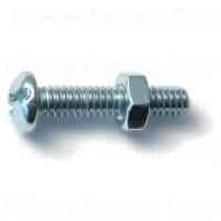#14-20 Thread Combo Round Machine Screws With Nuts