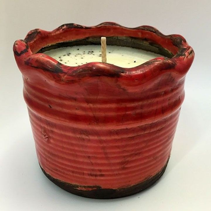 """Vanilla Pound Cake"" Scented Soy Ruffle Pot Candle"