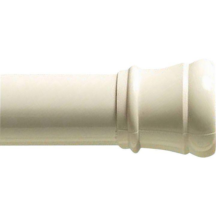 Zenith 604w Straight Shower Curtain Rod 60 In L Steel White