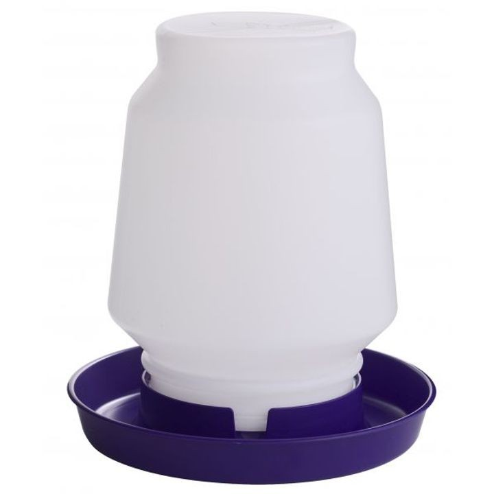 1 Gallon Complete Plastic Poultry Fount - Purple