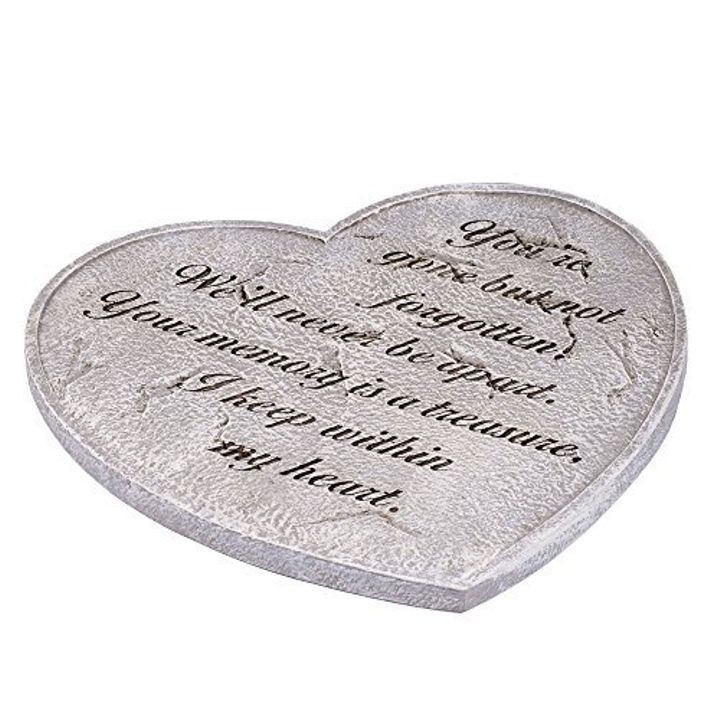 """Gone But Not Forgotten"" Bereavement Heart Shaped 11"" Garden Stepping Stone"