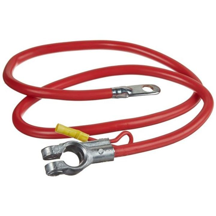 Top Battery Cable With Auxiliary, 2 Gauge, 38\