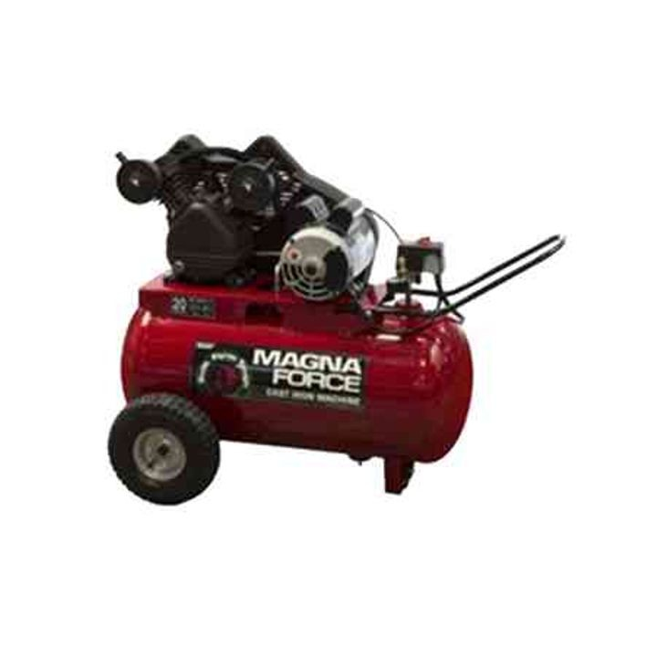 Magna Force 20 Gallon Cast Iron V Twin Horizontal Portable Air Compressor