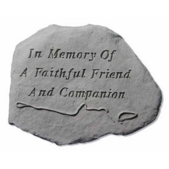"""In Memory Of…"" With Leash & Collar Memorial Stone"