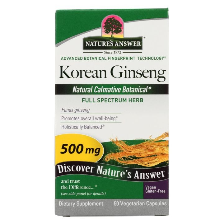 - Korean Ginseng Root - 50 Vegetarian Capsules