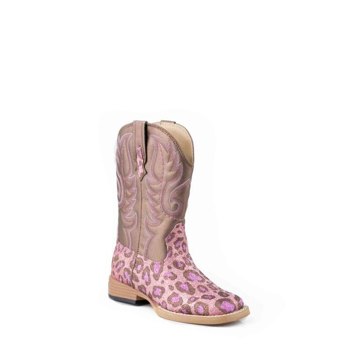 Little Girls' Western Square Toe Pull On Boot