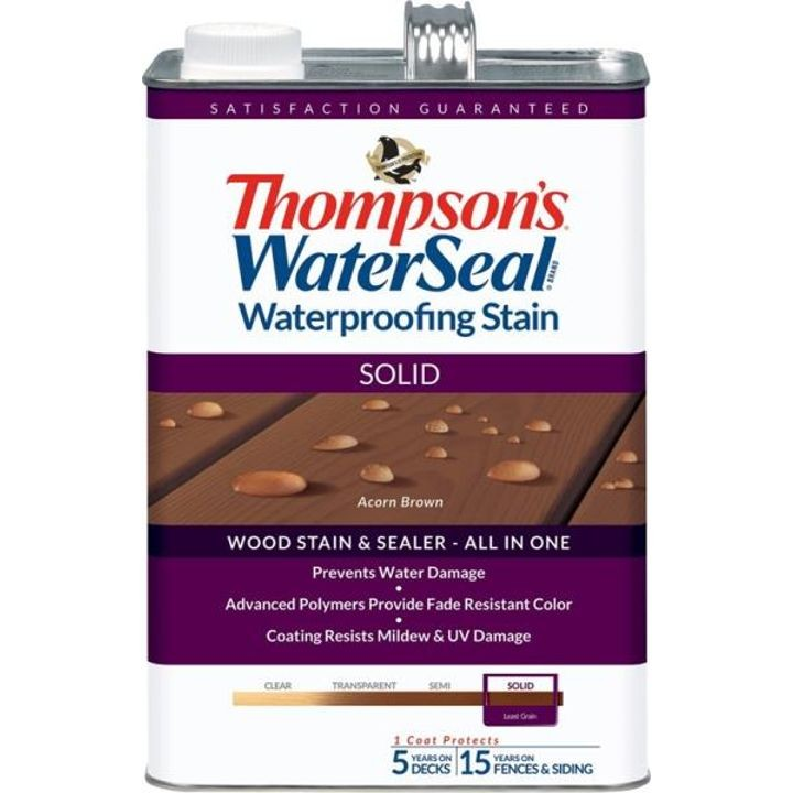 1 Gallon Thompsons solid Acorn Brown Waterproofing Stain