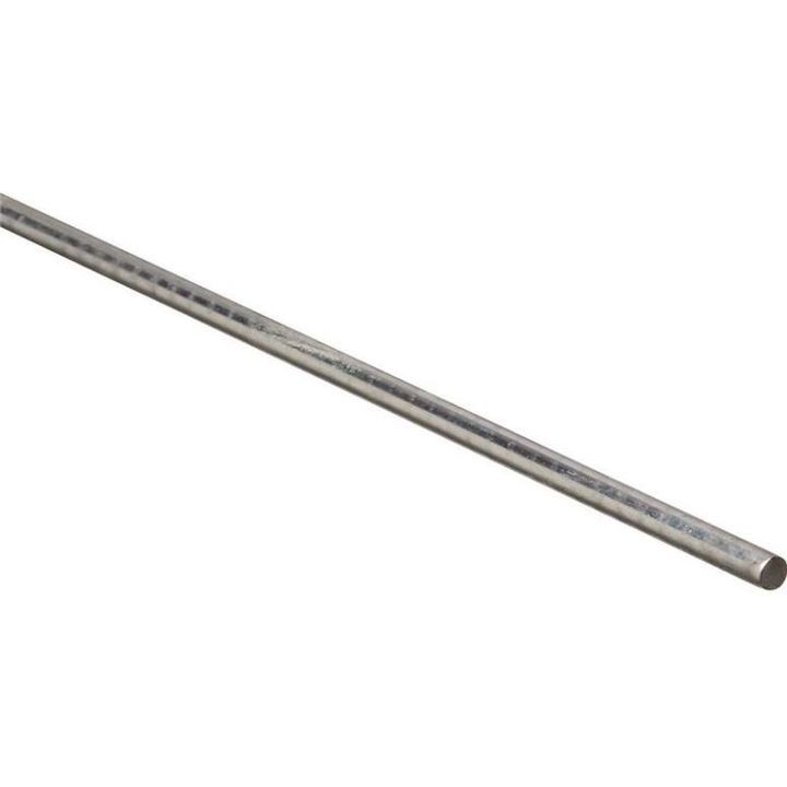 1/4 X 72 Inch Zinc Plated Steel Smooth Round Rod