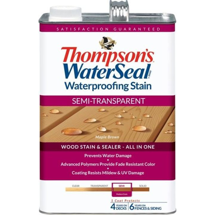 1 Gallon Thompsons Maple Brown Semi-Transparent Waterproofing Stain