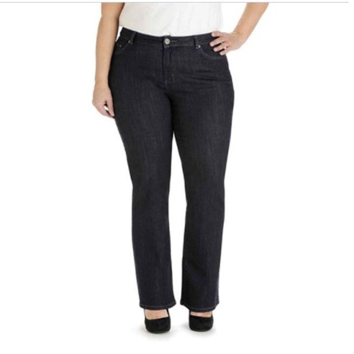 8fcd783d68a Ladies  Plus Size Classic Fit Monroe Straight Leg Horizon Blue Jeans ...