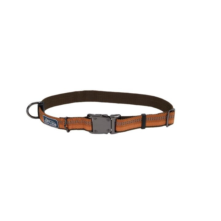 "1"" X 18-26"" K9 Explorer® Reflective Campfire Orange Adjustable Dog Collar"