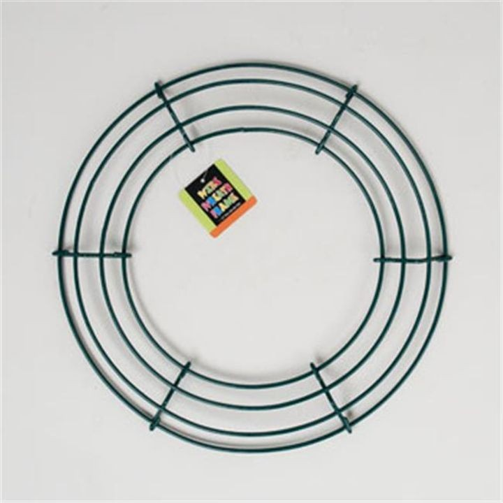 14.25 Inch Dia Green Wreath Frame Wire Round