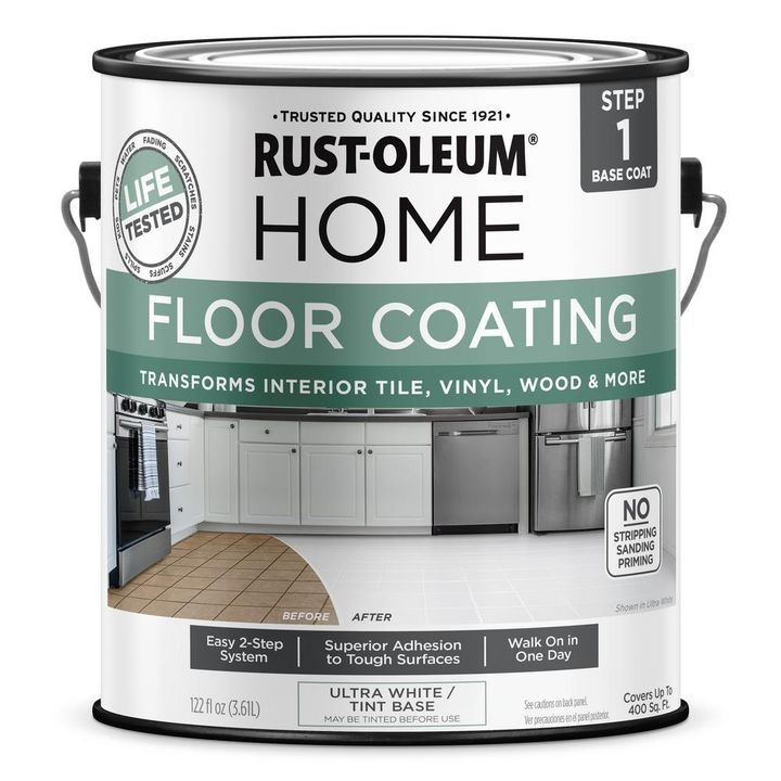 1 Gallon Ultra-White Interior Floor Base Coating