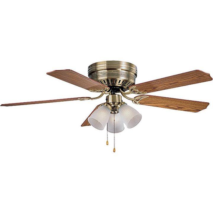 555706 Ceiling Fan Light Kit 3 Cfl Lamp 13 W Lamp Antique Brass