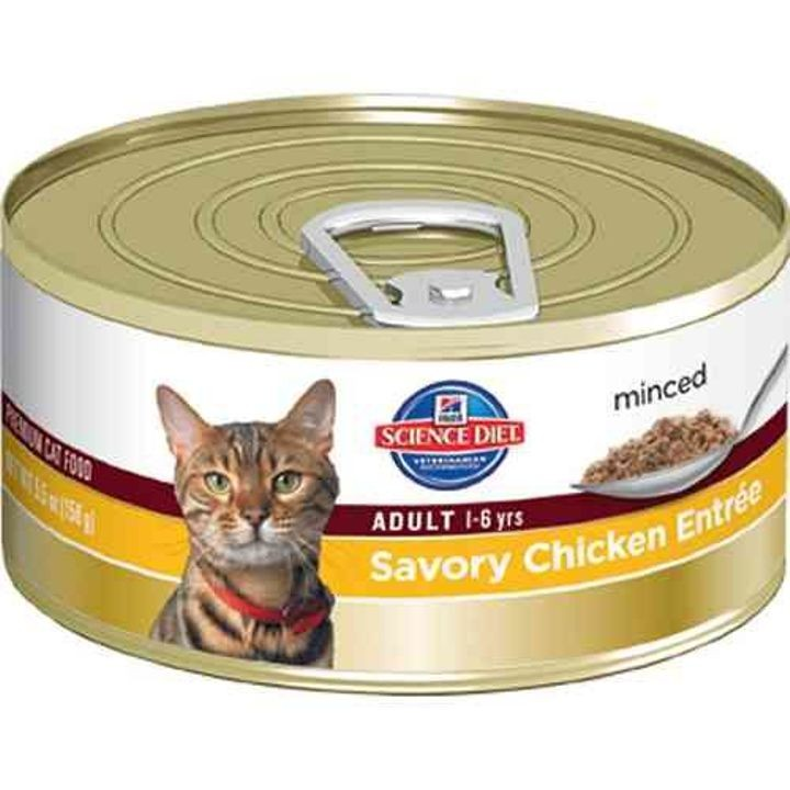 Adult Optimal Care Savory Chicken Entree Minced Canned Cat Food 5.5 Oz