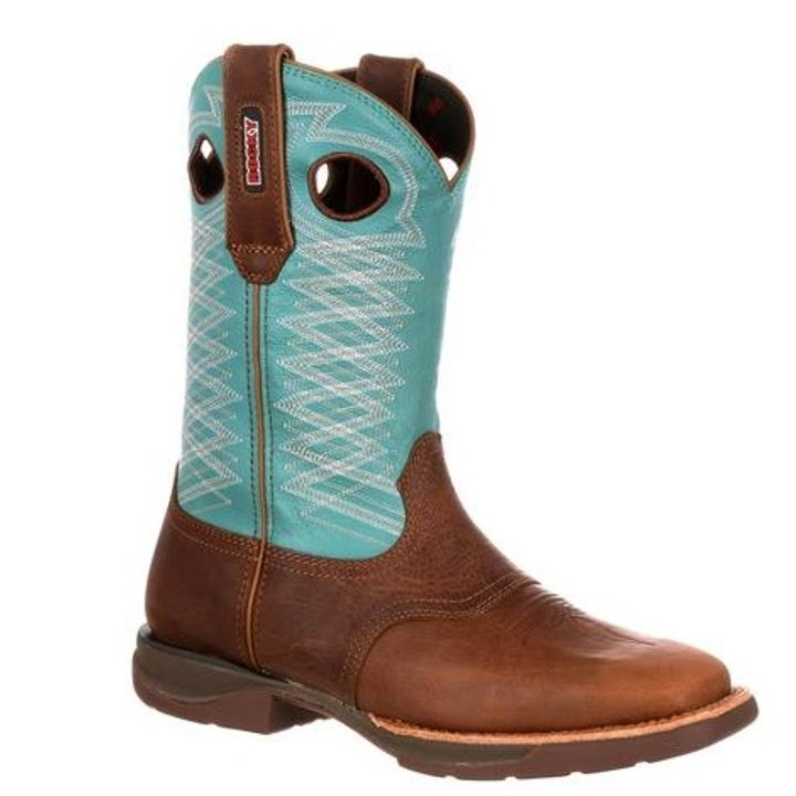 "Ladies' 10"" Pull-On Saddle Western Square Toe Boot"