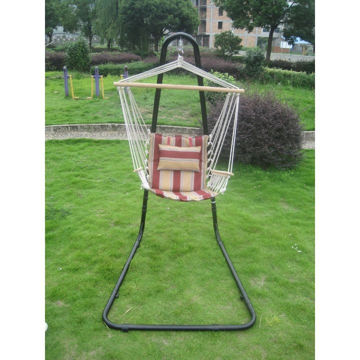 Hammock Chair with Wood Arms