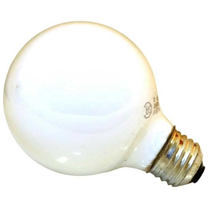 60 Watt G25 White Globe Decorative Incandescent Light Bulb