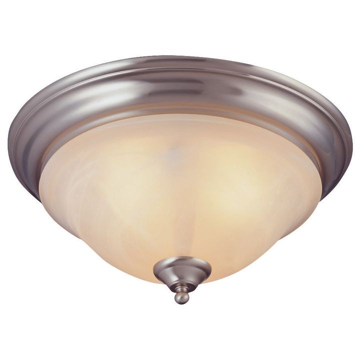 0674473 Dimmable Ceiling Light Fixture, (3) 60/13 W Medium A19/cfl Lamp, Brushed Nickel