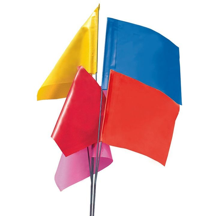 Wire Staff Plain Vinyl Marking Flags