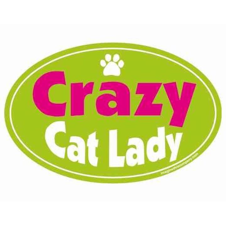 """Crazy Cat Lady"" Oval Magnet"