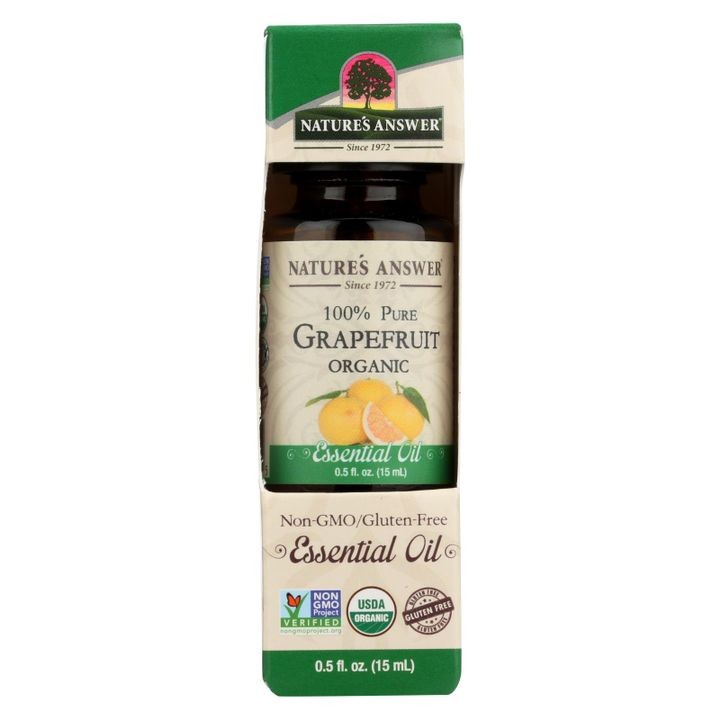 - Organic Essential Oil - Grapefruit - 0.5 Oz.