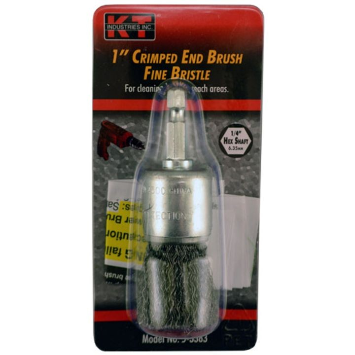 1 Inch FIne Hex Shaft Crimped End Brush