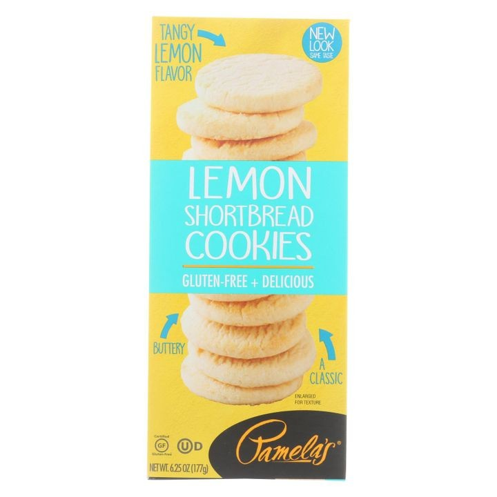 - Cookies - Lemon Shortbread - Gluten-free - Case Of 6 - 6.25 Oz.