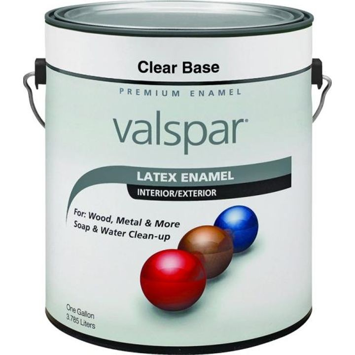 1 Gallon, Clear Base Interror/Exterior Premium Latex Enamel Paint