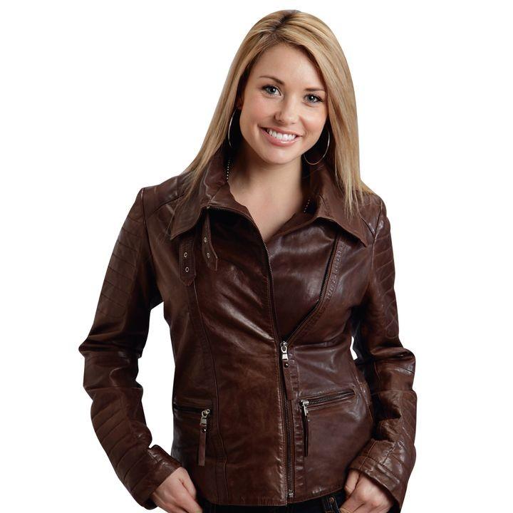 Ladies Moto Style Leather Jacket Jacket Theisen S Home Auto