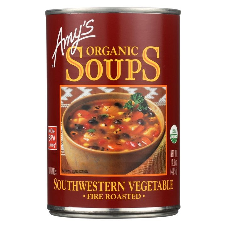 Organic Fire Roasted Southwestern Vegetable Soup - Case Of 12 -