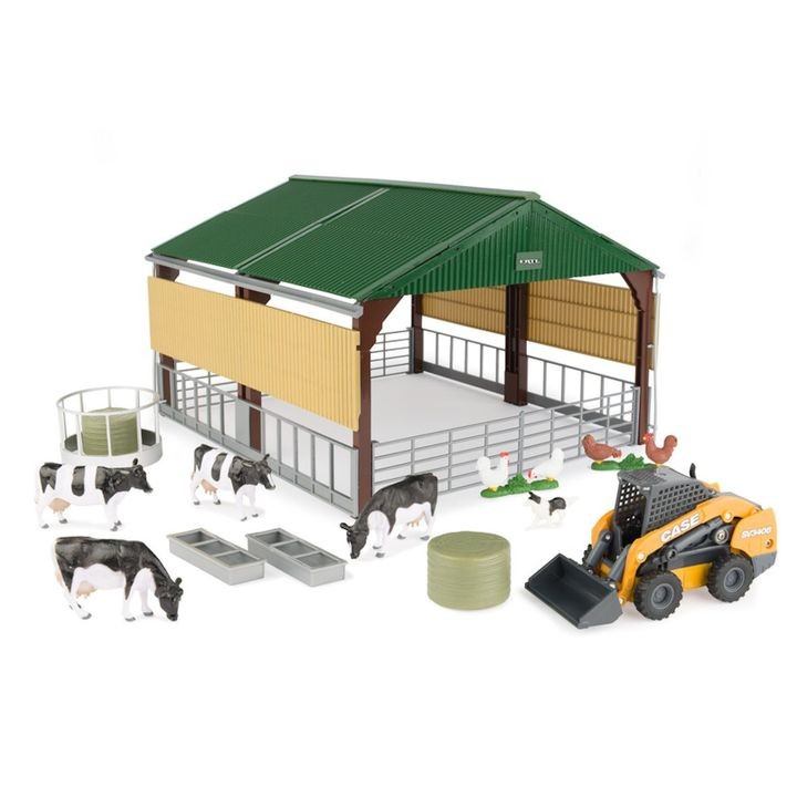 1/32 Case IH Skid Steer & Shed Playset