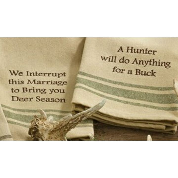 """Anything For a Buck"" Dish Towels"