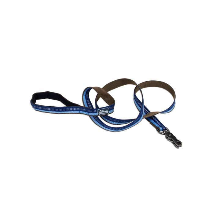 "1"" X 6' K9 Explorer® Reflective Sapphire Dog Leash with Scissor Snap"