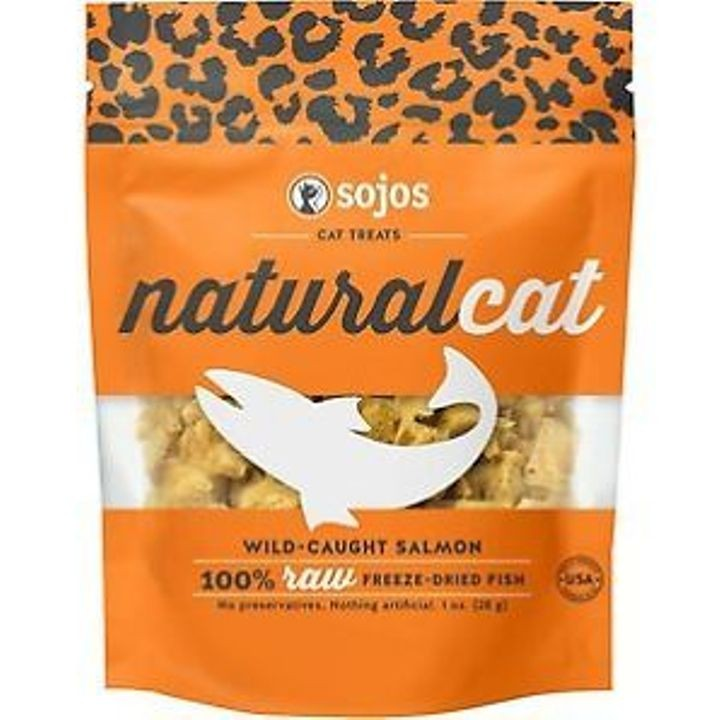 1 Oz Sojos Natural Salmon Cat Treats