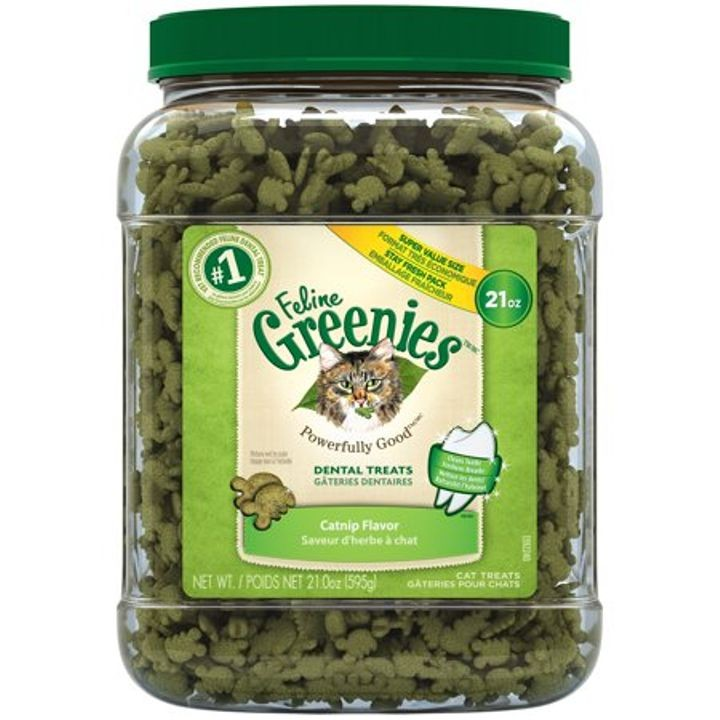 21 Oz Feline Greenies Dental Cat Treats, Catnip | Theisen's Home & Auto