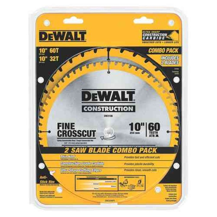 "10"" Saw Blade Combo Pack"