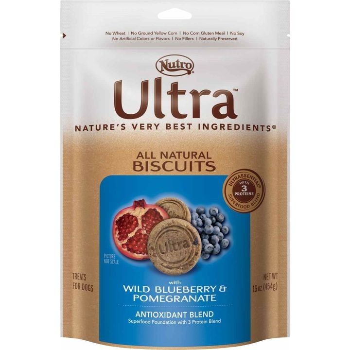 Ultra All Natural Antioxidant Blend Dog Biscuits With Wild Blueberry & Pomegranate