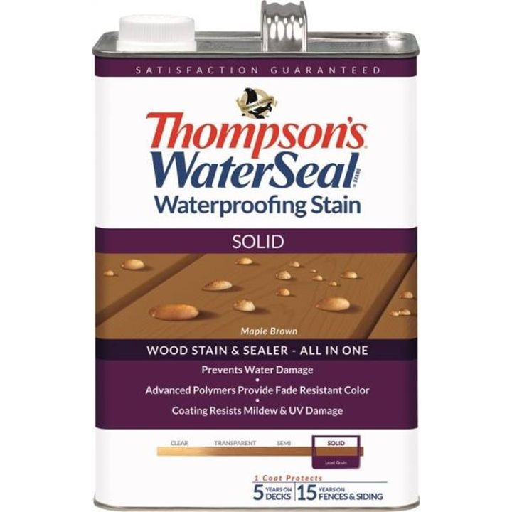 1 Gallon Thompsons Solid Maple Brown Waterproofing Stain