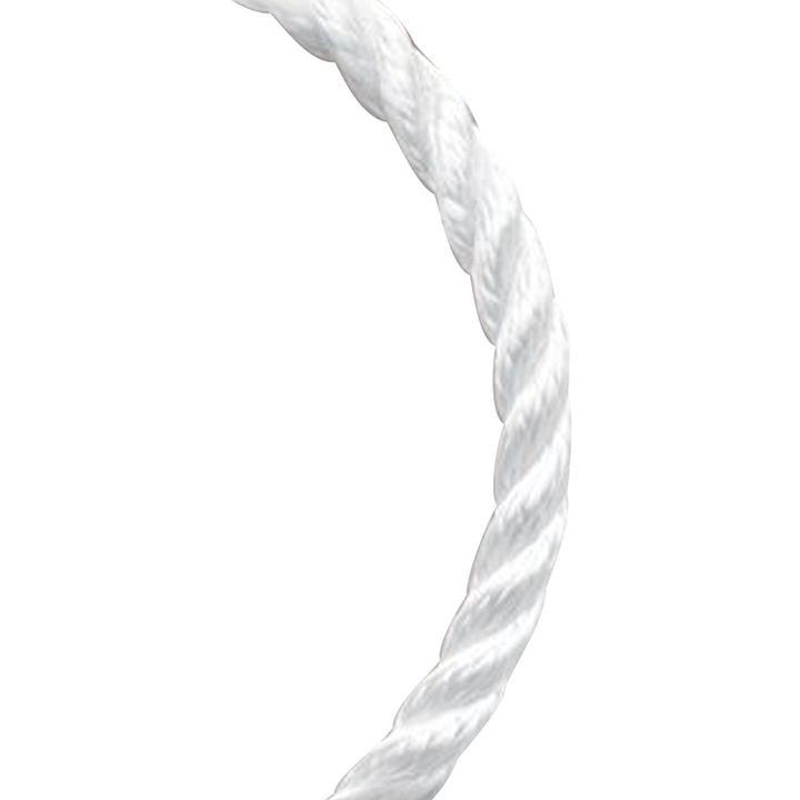 1/2 x 100 White Twisted 3 Strand Nylon Rope