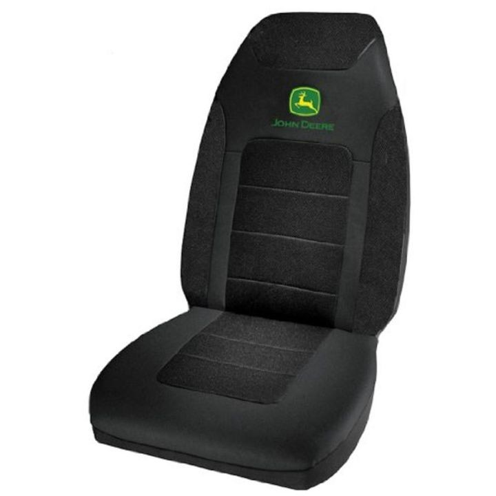 John Deere Logo Poly Suede Mesh Seat Cover