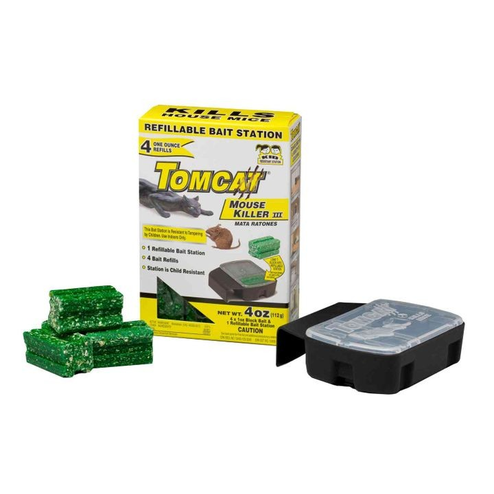 Tomcat Refillable Bait Station Mouse Killer II