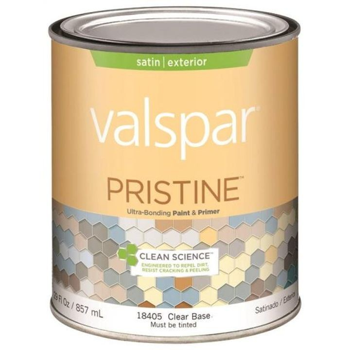 1 Quart Stain Clear Base Pristine Exterior Paint