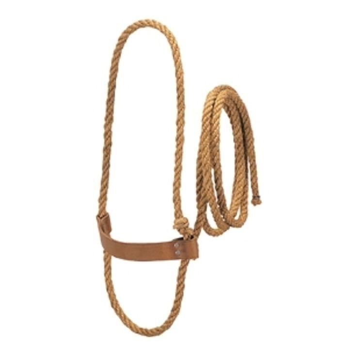 Sisal Rope Halter With Harness Leather Noseband