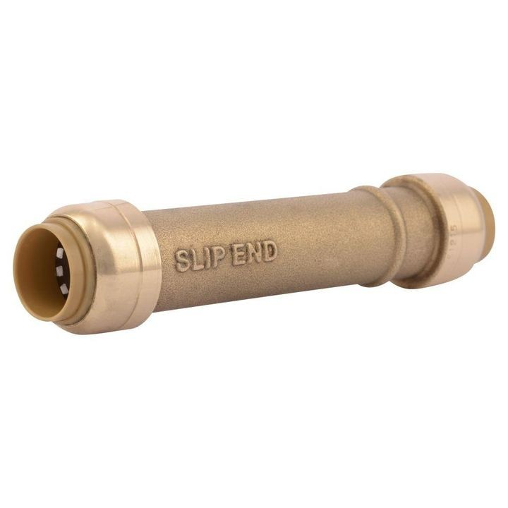 "1/2"" x 1/2"" Push-to-Connect Brass Slip Coupling Fitting"